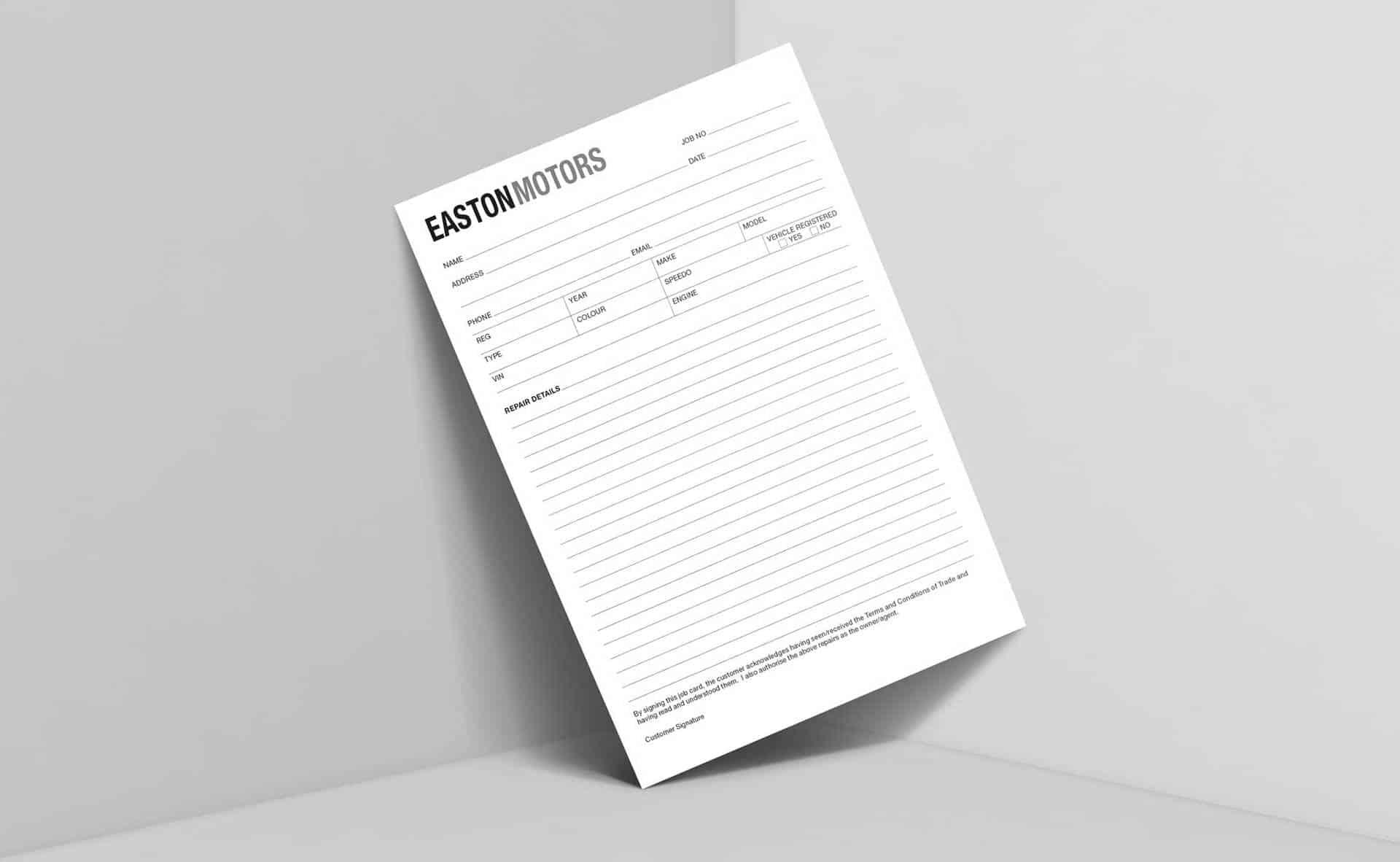 Job Cards  Mechanics, Repairs, Workshops & More — Zoozoo Printing Intended For Mechanics Job Card Template